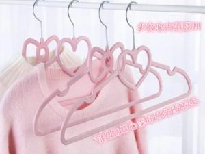 可愛蝴蝶結心型粉紅防滑衣架